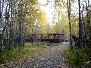 Alaska Trail Bridge in Fall
