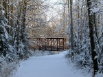 Trail Bridge in Winter