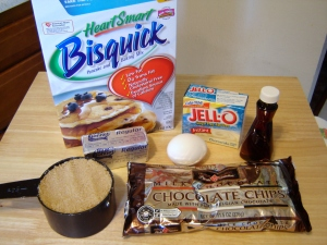 Ingredients for Quick and Easy Chocolate Chip Cookies