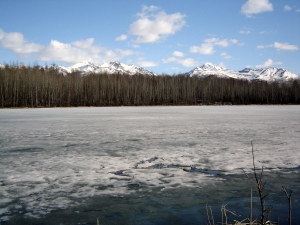 Thawing lake