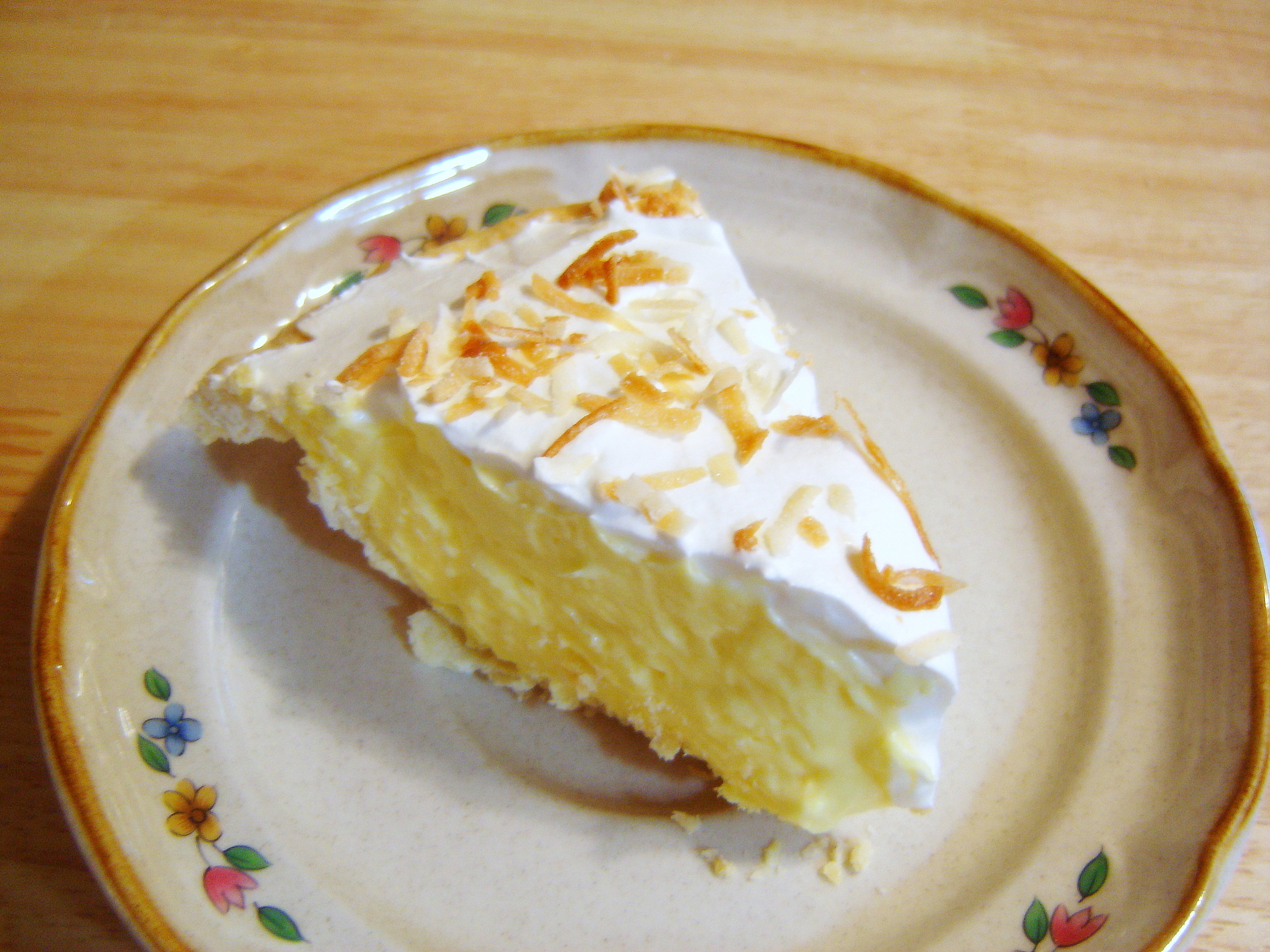 Easy Coconut Cream Pie | At Home in Alaska