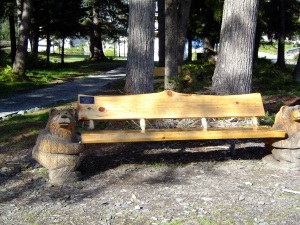 Cute bench near the trailhead.
