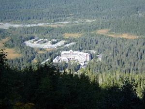 View of Alyeska Hotel from the trail