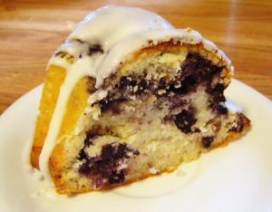 Blueberry Yogurt Cake slice