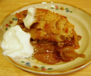 Skillet Caramel Apple Cobbler