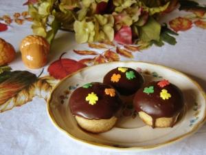 Baked Doughnut Mini Muffins with Chocolate Glaze