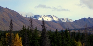Snow Topped Chugach Mountains