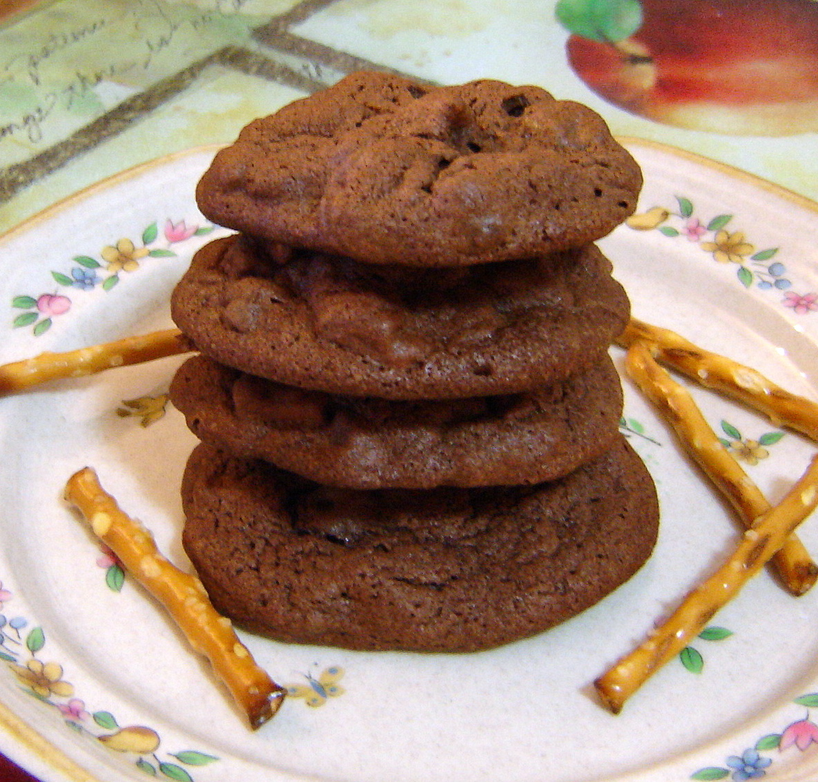 Chocolate Covered Pretzel Cookies