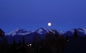 Full Moon Over Chugach Mountain Range