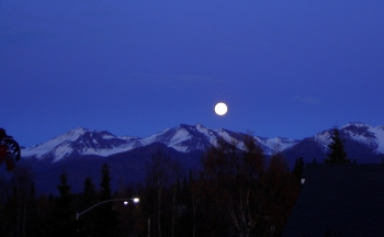 Full Moon Over Chugach Mountain Range