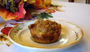 Pumpkin Cranberry Oat Muffins