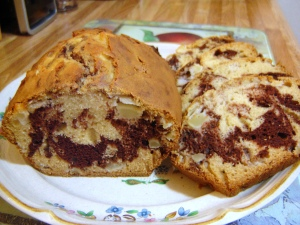 Marbled Chocolate Apple Bread