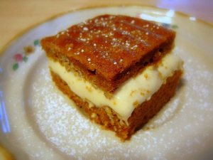 Pumpkin Spice Bars with Neufchâtel Cheese Filling