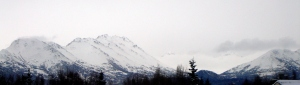 Snowy Chugach Mountains