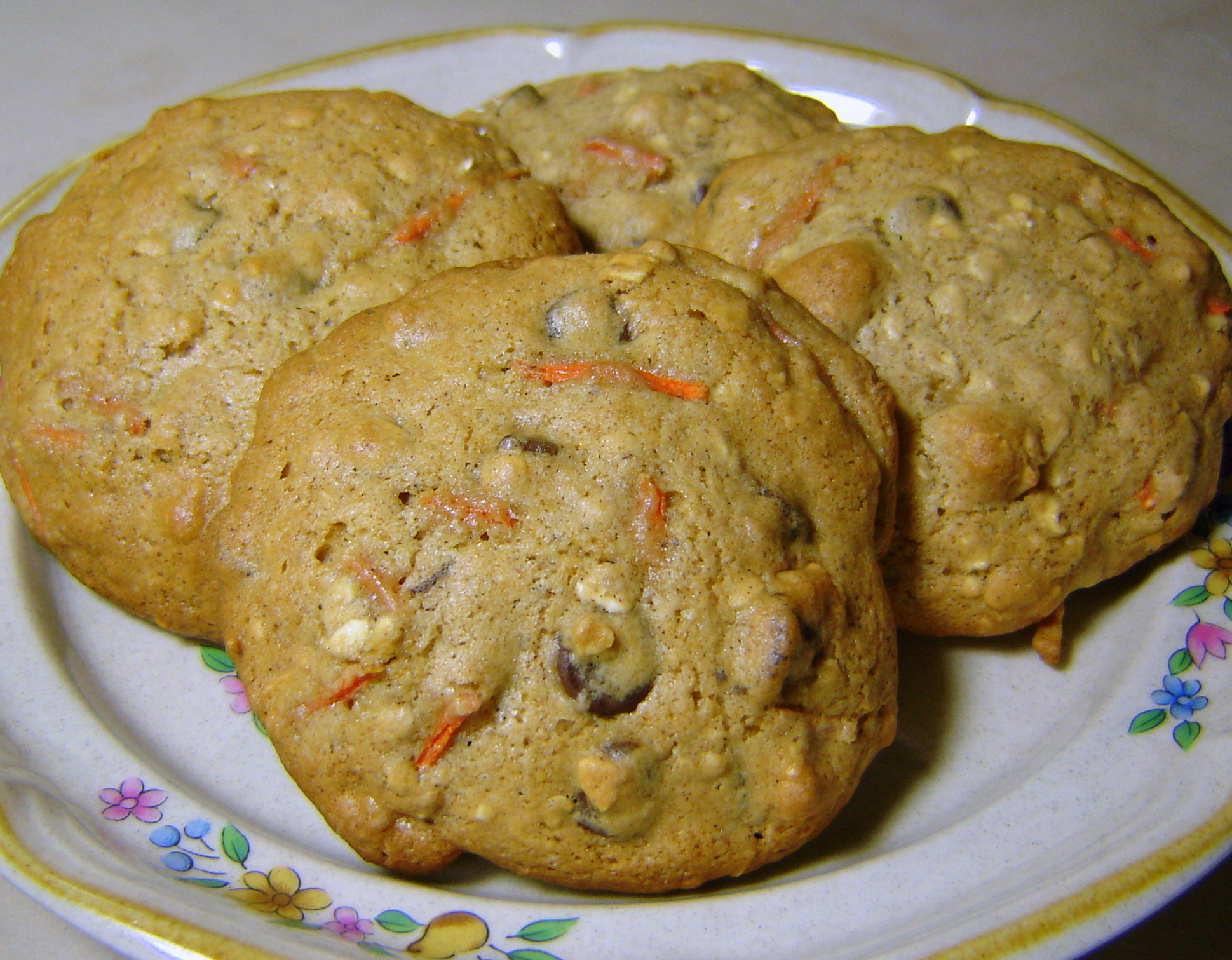 Oatmeal Chocolate Chip Carrot Cookies | At Home in Alaska