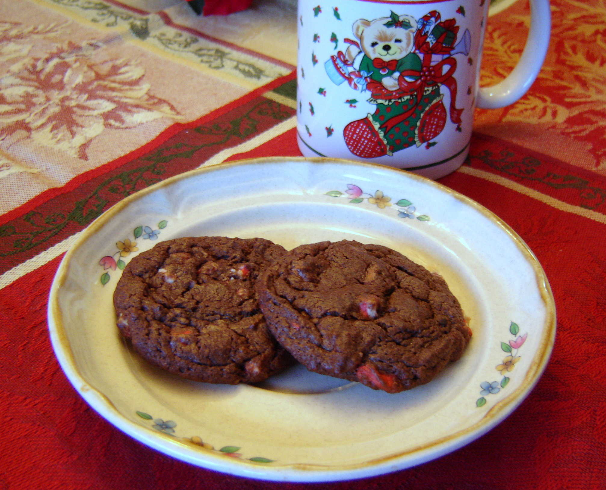 Chocolate Peppermint Crunch Cookies | At Home in Alaska