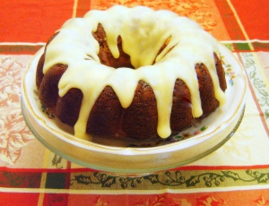 Gingerbread White Chocolate Chip Bundt Cake