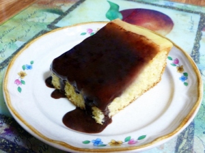 Boston Cream Poke Cake