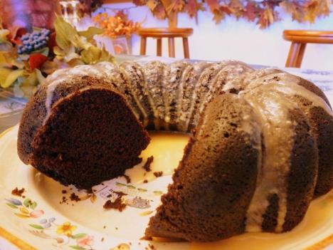 Eggless Chocolate Cake with Salted Caramel Glaze