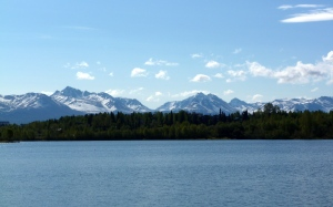 Chugach Mountain Range as seen from the Coastal Trail
