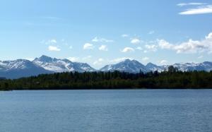 Chugach Mountain Range as seen from the Coastal Trail