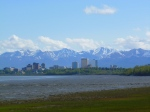 Downtown Anchorage as seen from the Coastal Trail