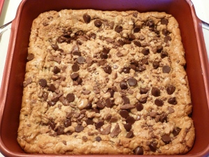 Chocolate Chip Toffee Blondies