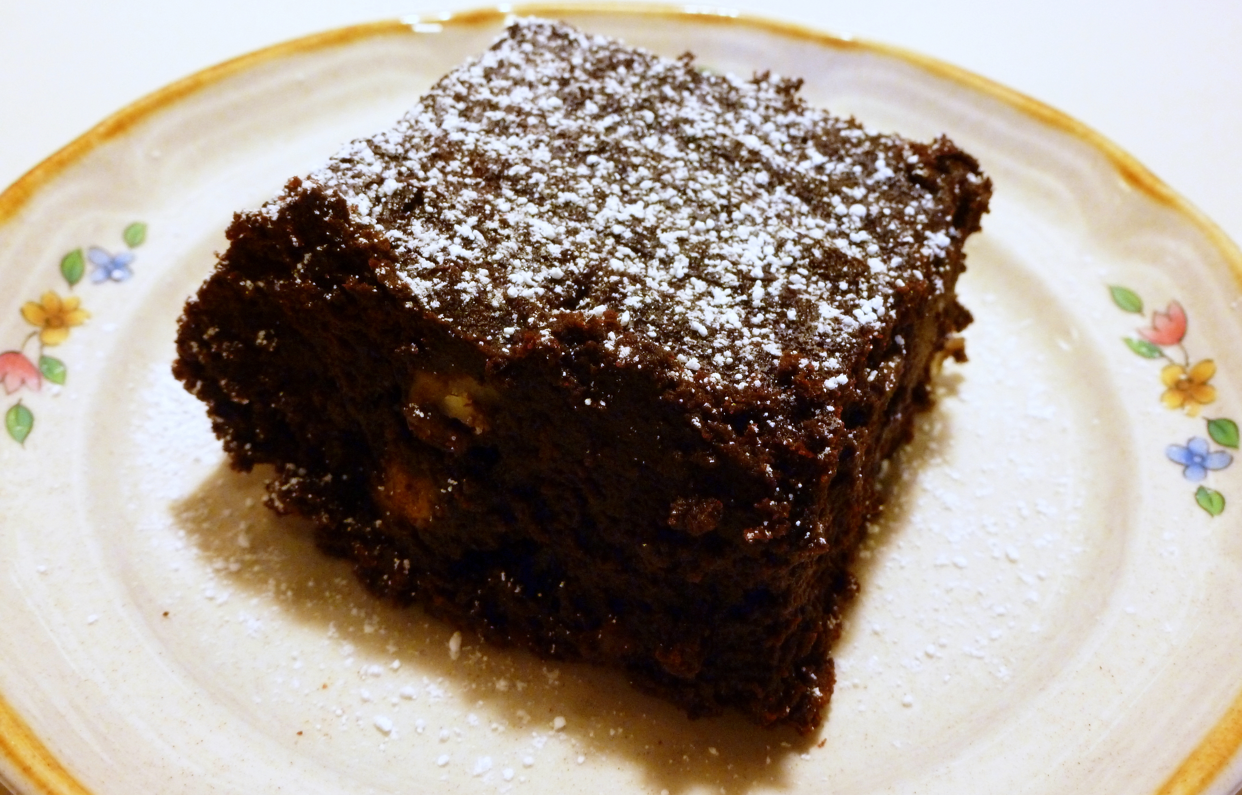 Flourless Chocolate Walnut Brownies | At Home in Alaska