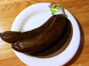 Bananas - frozen and then thawed