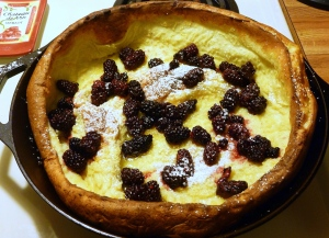 Blackberry Dutch Baby Pancake
