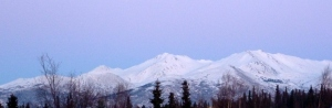 Chugach Mountain Range - January 26, 2013