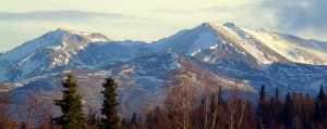 Chugach Mountain Range - January 28, 2014